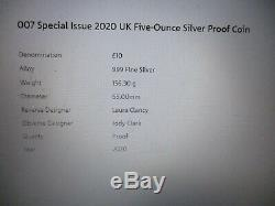 007 James Bond Special Issue 2020 UK 5 Five Ounce Silver proof coin-on pre order