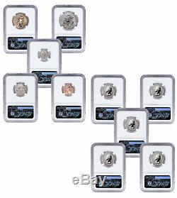 10 Coin 2018 S US Silver Reverse Proof Set NGC PF70 FDI Mercanti Signed SKU55040