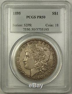 1895 PROOF Morgan Silver Dollar $1 Coin PCGS PR-50 The KEY KING of Morgans. BCX