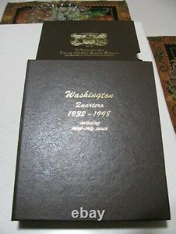 1932-1998 Washington Quarter Complete Set Dansco 8140 Album w Proof (186 Coins)