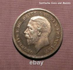 1935 King George V Raised Edge Silver Proof Crown In Box Rare Coin