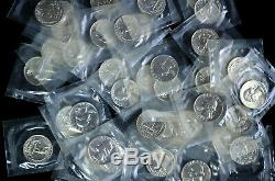 1964 Silver Proof Washington Quarter Roll 40 coins In Mint Cellophane
