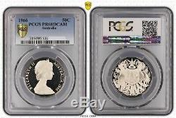 1966 Australia Round 50c Silver Proof Coin PCGS PR68DCAM