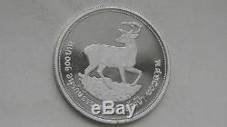 1974 Thailand 100 Baht Eld Deer Silver Proof coin