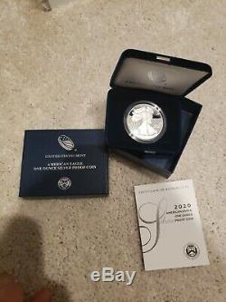 1986-2020 SILVER EAGLE PROOF SET with GOV ISSUED BOX & COA (34 coin set)