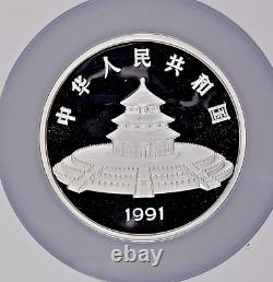 1991 5oz. China 50 Yuan Proof Silver Panda Coin NGC/NCS PF69 U. C. Conserved