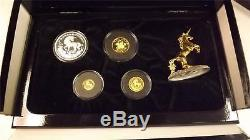 1994 Chinese Unicorn Gold and Silver 4 Yuan Coin Proof Set
