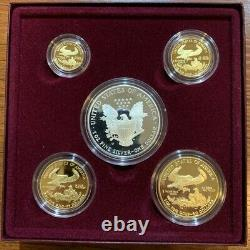 1995-W 5-Coin Proof American Eagle Set 10th Anniversary Silver & Gold Coins