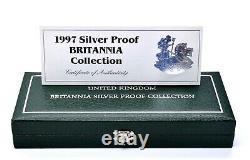 1997 Silver Proof Britannia 4 x Coin Collection + Coa Royal Mint 21st Birthday