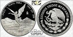 1999 Mexico Pcgs Pr68dcam Silver Libertad Proof Onza Coin Rare 1 Ounce! True View