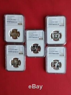 1999 S Silver State Quarter 5 Coin Set Ngc Pf 70 Uc Delaware Included