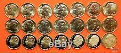 2000 2020 PDSS +S Roosevelt Dime 86 Coin BU Set wALL Clad & Silver Proof + Enh