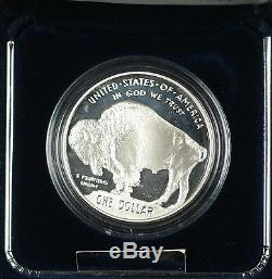 2001 Smithsonian American Buffalo Commem Proof Silver Dollar $1 Coin as Issued