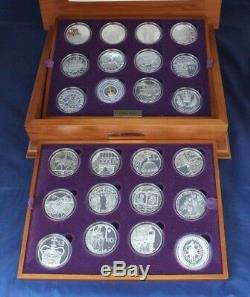 2003 Silver Proof 24 coin Set Golden Jubilee in Case with COAs
