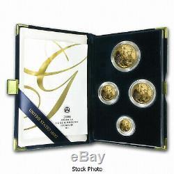 2004 W American Gold Eagle 4 Coin Proof Set w Box COA Platinum Silver Palladium