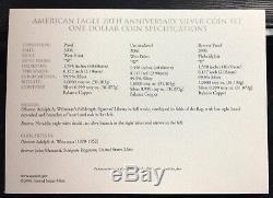 2006 American Eagle 20th Anniversary Silver Coin Set