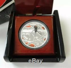2006 (TUVALU) $1 Deadly and Dangerous Red-Back Spider 1oz Silver Proof Coin