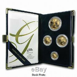 2006 W American Gold Eagle 4 Coin Proof Set w Box COA Platinum Silver Palladium