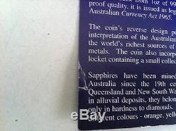 2007 $1 Treasures Of Australia Sapphires 1oz Silver Proof Coin
