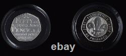 2009 Silver Proof Fifty Pence Coin Set Kew EEC EU D-Day 40 Years of 50p + COA