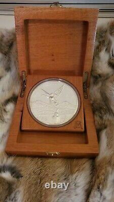 2009 proof Mexico 1Kg Ley. 999 Plata Pura Mexican Kilo Libertad Silver Coin