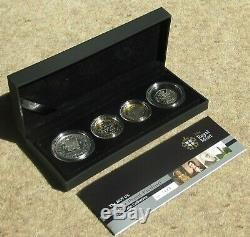 2009 silver proof Piedfort Four-coin Collection (incl Kew 50p), cased with COA