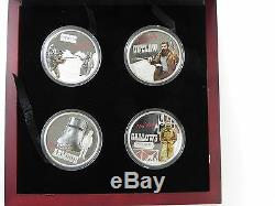 2010 NED KELLY 1oz Silver Proof Four Coin Set