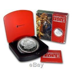 2010 Year of Tiger 1kg Kilo Silver Proof Coin Australia Lunar Series II 2