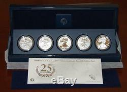 2011 Silver American Eagle 25th Anniversary 5 Coin Set US Mint (A25)