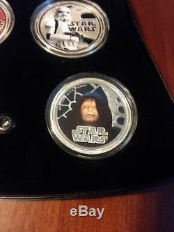 2011 Star Wars Proof Silver 4-Coin Set Niue Darth Vader ORIGINAL FREE SHIPPING