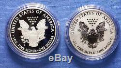 2012-S American Silver Eagle 2 Coins Set with Reverse Proof Mint Box & COA