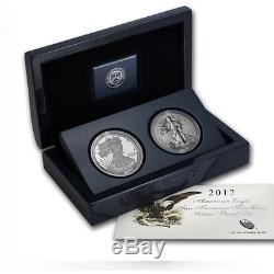 2012-S American Silver Eagle San Francisco 2 Coin Proof and Reverse Proof Set