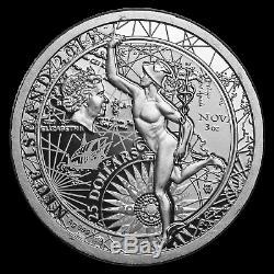 2014 Niue 3 oz Silver Fortuna Redux Mercury Cylinder Coin SKU #82086
