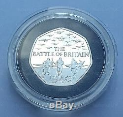 2015 50p Silver Proof Coin 75th Anniversary of the Battle of Britain UK 50p