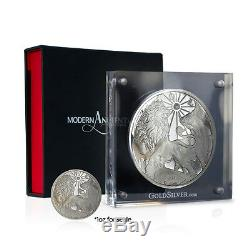 2015 Modern Ancients Series Lion & Bull 10 oz Silver USA Made Proof Round Coin