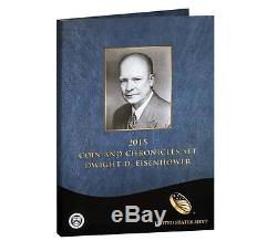 2015 P Eisenhower Presidential Coin & Chronicles Set Reverse Proof Silver AX2