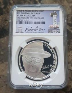 2015 Pawn Stars OLD MAN 1 troy oz. 999 Silver Round Coin NGC Certified