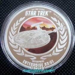 2015 Star Trek Captain Archer & Enterprise NX-01 1oz Silver Proof 2-Coin Set OGP