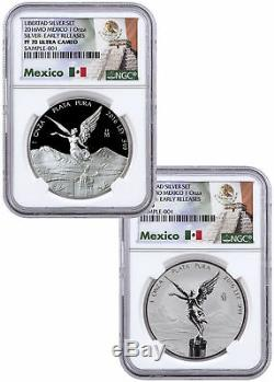 2016 Mexico 1 oz Silver Libertad Proof + Rev Proof 2-Coin NGC PF70 ER SKU44631