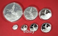 2016 Mexico Libertad 7 coin Silver Proof Set 1/20 thru 5OZ