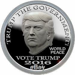 2016 Trump Dollar 1 oz Gold (XTRA RARE), Silver & Copper 3 Round Coin Proof Set