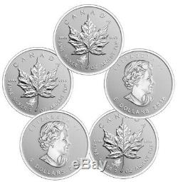 2016 Wolf Privy Silver Canadian Maple Leaf Reverse Proof Coin. 9999 (BU Lot 5)