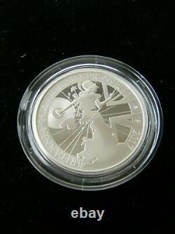 2017 Royal Mint Britannia £2 Two Pound Silver Proof 1oz Coin Box & COA