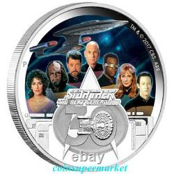 2017 Star Trek The Next Generation Crew 30th Anniversary 2oz Silver Proof Coin