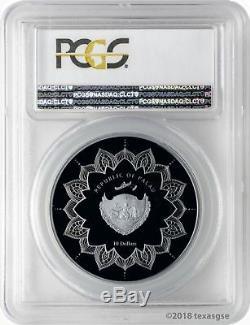 2018 $10 Palau Laughing Buddha 2oz. 999 Silver Proof Coin PCGS PR70DCAM FD