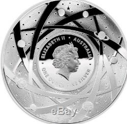 2018 $5 Coloured Silver Proof Domed Coin, the earth & beyond NOW SOLD OUT