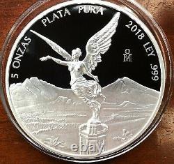 2018 5oz Silver Libertad Proof Treasure Coin of Mexico