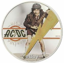 2018 AC/DC HIGH VOLTAGE 1/2oz Silver Proof Coin