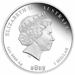 2018 Australia Lunar Year of the DOG Silver Proof 3-Coin Set 2oz 1oz 1/2oz