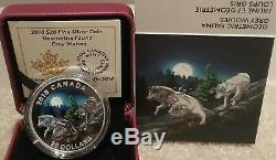2018 Grey Wolves Geometric Fauna $20 1OZ Pure Silver Proof Canada Coin Geometry